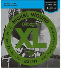 3 Sets D'Addario EXL117 Nickel Wound Medium Top/Extra-Heavy Bottom 11-56 3 pack
