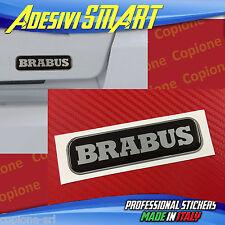 1 Adesivo Resinato Sticker 3D BRABUS Smart Nero & Argento sportello posteriore
