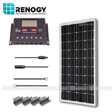 Renogy 100W Watts 12V Monocrystalline Solar Panel Off Grid Kit  RV Boat