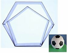 "Football Sugarcraft Cutters (Hexagon & Pentagon) to fit 6"" Ball Cake - Valley"