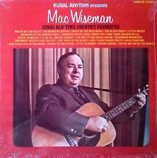 MAC WISEMAN - SINGS OLD TIME COUNTRY FAVORITES - RURAL RHYTHM - SEALED LP