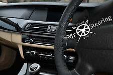 FITS FORD MONDEO MK4 07-13 PERFORATED LEATHER STEERING WHEEL COVER DOUBLE STITCH