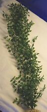 """NEW Artificial Aquarium PLANT w/ STONE BASE – 27"""" LARGE Pea Leaf (not wired)"""