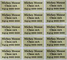 120 Gold Customise Personalised Name Stickers Vinyl Tag / Label, 3.0 X 1.5 CM