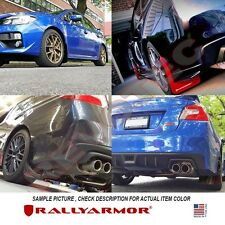 Rally Armor Mud Flaps For 2015-2017 Subaru WRX & STi 4DR Sedan w/ Red Logo