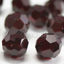 36 pieces Swarovski Element 5000 faceted 4mm Round Ball Beads Crystal Garnet