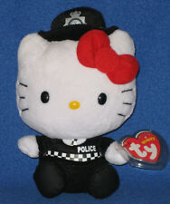 TY HELLO KITTY ENGLISH POLICE WOMAN BEANIE BABY - MINT TAGS - UK EXCLUSIVE