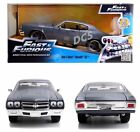 JADA FAST AND FURIOUS DOM'S CHEVY CHEVELLE SS GREY 1/24 DIECAST MODEL CAR 97835