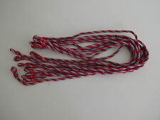 Set of 10 Lanyards British  Military New No Labels - Blue/Red several sets