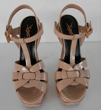 YSL Yves Saint Laurent Tribute Sandals Beige Sz 35
