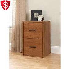 File Filing Cabinet Wood Home Office 2 Drawer Organizer Storage Furniture Alder