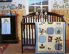 Eddie Bauer Crib Bedding 4 Pc Owl Creek- squirrels bears trees