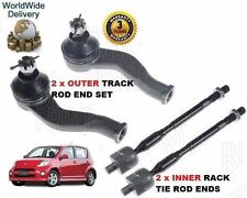 FOR DAIHATSU SIRION 1.5 2005-- NEW 2x OUTER & 2x INNER TRACK TIE RACK ROD END