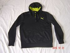 "Puma Black Athletic 5"" zipper  Hoodie Sweater Sweatshirt Women Size Small"