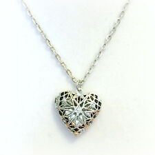Essential Oil Diffuser Necklace Jewelry Aromatherapy Locket Antique Heart