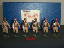 KING AND COUNTRY VINTAGE GLOSS EGYPTIAN CAMEL CORPS METAL TOY SOLDIER FIGURE SET