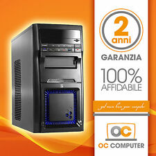 PC DESKTOP INTEL QUAD CORE RAM 16GB SSD 120GB DVD/WIFI/COMPLETO ASSEMBLATO FISSO