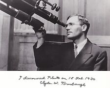 ON SALE !!! Clyde Tombaugh Discoverer of the 9th Planet, Pluto at Telescope