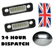 2 x FIESTA 02-MONDEO FUSION 8000k bianco SMD LED license number plate light