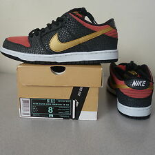 NIKE DUNK LOW PREMIUM SB QS 504750-076 WALK OF FAME 8 Red/Gold