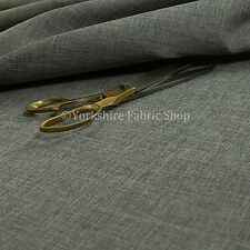 Upholstery Fabric Quality Plain Soft Linen Woven Look Chenille New Silver Grey