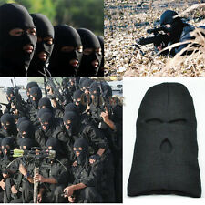Black Knit 3 Hole Ski Mask BALACLAVA Hat Face Shield Beanie Cap Snow Winter Warm