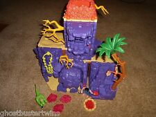 HTF RET FISHER PRICE IMAGINEXT DINO DINOSAUR CAVEMAN PREDATOR PEAK PLAYSET lot