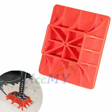 4X4 High Lift Farm Jack Base Plate 4WD Off Road Mud & Sand Recovery Kit Hi Red