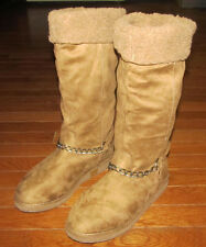 Womens Boots Size 6.5 By Guess 6 1/2 Camel Tan Brown Suede Leather GGHorizan