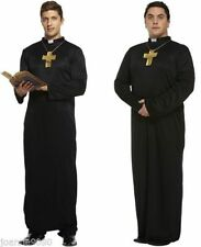 Vicar Priest Clergy Costume Dog Collar Fancy Dress Stag Night Costume U10 030
