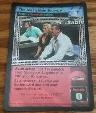 WWE Raw Deal THE BOSS'S MAIN SQUEEZE Sable Ultra Rare