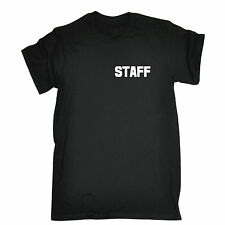 STAFF (BREAST POCK AND LARGE ON BACK) T-SHIRT - uniform workwear bar pub tee