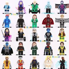 25pc X-Men Marvel SuperHero Angel Magneto Wolverine Rogue Quick Silver Fits Lego