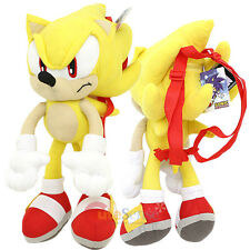 "The Hedgehog Super Sonic Plush Doll Bag Custom Backpack  22"" XL Kids to Aduts"