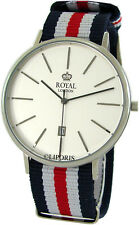 ROYAL LONDON elegante Edelstahl Herrenuhr classic gents dress watch Ø42,5mm 3ATM