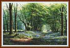 "'BLUEBELL WOODS' Cross Stitch Chart/Pattern (19""x12½"") Flowers/Detailed NEW!"