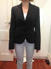 Country Road Black Women's Business Suit Office Lady Jacket Blazer Size 6 Small