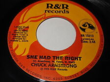 Chuck Armstrong: She Had The Right / Give Me All Your Sweet Lovin' 45 Soul