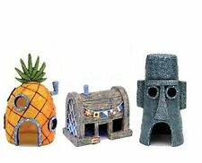3 House Set EASTER ISLAND PINEAPPLE DINER Aquarium Ornament fish tank hide cave