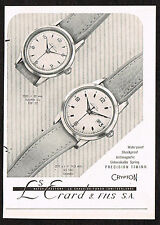 1950's Small Vintage 1957 Erard Watch Co. Crypton Watch Photo Paper Print AD