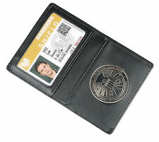 The Avengers Agents of S.H.I.E.L.D.Shield Badge in Leather Wallet or Holder