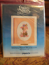 Paragon Precious Moments Stamped Stitch Kit Unopened Little Girl Adorable