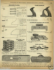 1892 PAPER AD Ohio Wood Wooden Planes Bit & Square Level Tool
