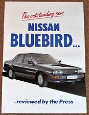 1987 NISSAN BLUEBIRD UK Press Reviews Sales Brochure - Unread New Old Stock!!