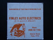 SUPPORTER OF THE FINLEY BOWLING CLUB FINLEY AUTO ELECTRICS 058 831193 COASTER