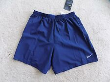 NEW NIKE MENS PHENOM RUNNING MIDNIGHT NAVY SHORTS 7 inch SMALL 2 in 1 683279