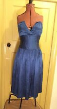 Small Blue Cocktail Dress Approx Size 10 Vintage / Retro Style 40s 50s