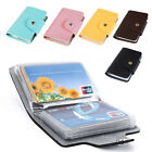 Colors PU Leather Pocket Business ID Credit Card Holder Case Wallet For 24 Card