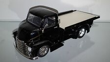 1/24 JADA 1952 CHEVROLET COE ROLLBACK FLAT BED IN GLOSSY BLACK AND CHROME WHEELS