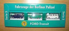 Brekina 90387, Fahrzeuge der Berliner Polizei, 3 x Ford Transit, 1/87, NEU&OVP